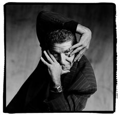 LEONARD COHEN by GUIDO HARARI LEONARD COHEN, Milan, 1989 - Wall of Sound Gallery - Fine Art Music Photography