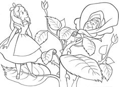 Alice in Wonderland Christmas coloring page Christmas Easter