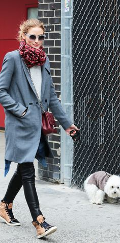 22 Dog-Walking Outfit Ideas Inspired by Celebrities - Olivia Palermo from InStyle.com