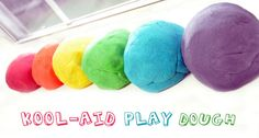 """Kool-Aid Play Dough - fun """"no-cook"""" cooking craft for your Daisy/Brownie troops!"""