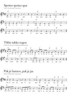 Regen - oam kan al oefenen ;-) Music For Kids, Kids Songs, Teaching Weather, Easy Guitar Tabs, Violin Sheet Music, Music Ed, Preschool Kindergarten, Preschool Crafts, Singing In The Rain