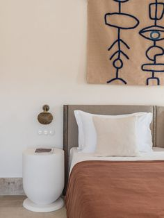 Discover the Cycladic-inspired Parilio Hotel on the Greek island of Paros, designed by Athens-based Interior Design Laboratorium. Bedroom Inspo, Bedroom Decor, Bedroom Wall, Bedroom Ideas, Master Bedroom, Studio Interior, Interior Design, Bed And Breakfast, Bedrooms