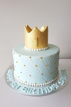 Birthday cake fit for a 1 year old prince Birthday cake fit for a 1 year old prince Cake 1 Year Boy, 1 Year Old Birthday Cake, 1 Year Old Cake, Baby Boy Birthday Cake, 1st Birthday Cake Topper, Bithday Cake, First Birthday Cakes, Happy Birthday 1 Year, Prince Birthday