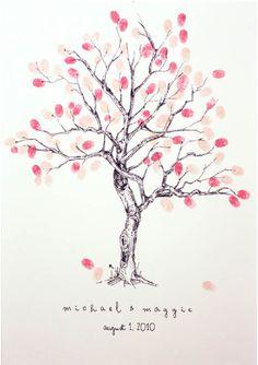 fingerprint family tree guest book!!