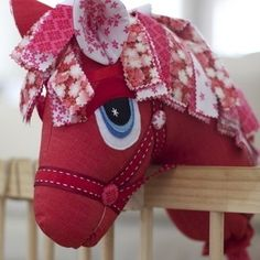 """Cherry Blossom"" the Hobby Horse by Pink Grapefruit Use for eye detail and alternative mane Unicorn Diy, Unicorn Birthday, Hobbies For Women, Hobbies To Try, Sewing Toys, Sewing Crafts, Sewing Projects, Softies, Hobby Lobby Christmas"
