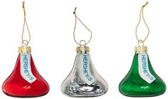 Amazon.com: Kurt Adler Hershey Kisses Glass Set, Christmas Ornament: Home & Kitchen