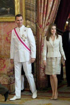 Spanish Crown Prince Felipe and Crown Princess Letizia
