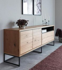 Sideboard Modern, Retro Sideboard, Entryway Wall Decor, Room Decor, Muebles Rack Tv, Home Room Design, House Design, Home And Living, Room Inspiration