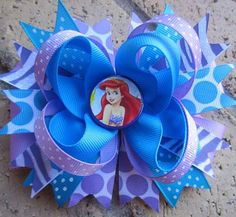 Items similar to Ariel the Little Mermaid Custom Boutique Disney Princess Hair Bow on Etsy Baby Hair Bows, Ribbon Hair Bows, Princess Hair Bows, Disney Princess, Frozen Bows, Ariel Hair, Rainbow Loom Charms, Princess Hairstyles, Ribbon Sculpture