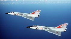 """F-106A """"Delta Dart"""" New Jersey ANG in flight (1984)."""