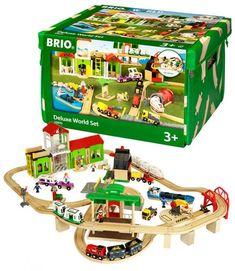 BRIO World Togbane luksussett i boks - 122 deler 33870