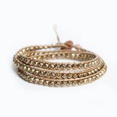 gold nugget wrap! $25 | www.busywrist.com #wrapbracelets #gold #busywrist
