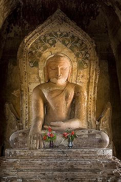 Buddha @ Khay Mingha, Bagan | Loved and pinned by www.downdogboutique.com