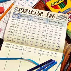 Plan and organize your entire day or week with these easy and creative bullet journal ideas. Use these bullet journal hacks as inspiration for your bujo! Bullet Journal For Weight Loss, Bullet Journal Health, Bullet Journal Workout, Bullet Journal Tracker, Fitness Journal, Bullet Journal Inspo, Bullet Journal Spread, Bullet Journal Layout, Bullet Journals