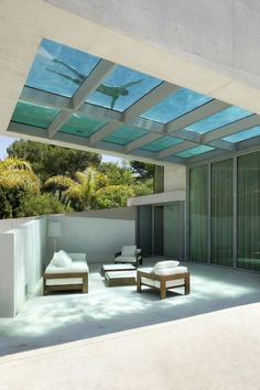 Suspended Transparent Pool Architecture by Wiel Arets Architects.