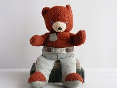 Vintage Teddy Bear Smokey the Bear - Never let my Smokey the Bear out of my arms..as a matter of fact I STILL have him!