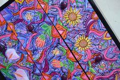 Painted Storage Drawers  Flower painted by NirgunaFurnishings