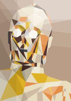 Star Wars - The Golden One by Liam Brazier http://www.mymodernmet.com/profiles/blogs/geometric-pop-culture