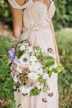 Whimsical Enchanted Forest Wedding Dream On Soft Beds Of Green   Photograph by What a Day! Photography  http://storyboardwedding.com/whimsical-enchanted-forest-wedding/