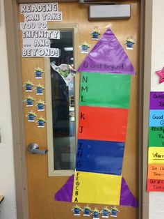 Toy Story guided reading level progress tracker.. aliens move up rocket as students move up levels
