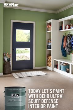 Today, let's paint that wall without fear of scuff marks. Give your home the durability it needs with BEHR ULTRA® SCUFF DEFENSE™ Interior Paint. This innovative formula creates an extra durable scuff-resistant finish perfect for your home.​ Now available in 4 sheens. Featured color: Sweet Grass M350-4. Click below to learn more!