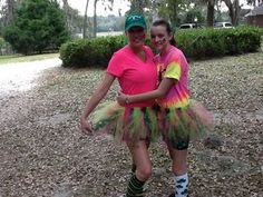 Homemade tutus... running a 5k together (sort of... she beat me)... PERFECT!! ;)