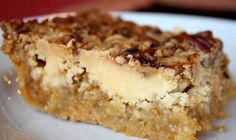 1 box yellow cake mix •1 can (15 oz) pumpkin puree •1 can (12 oz) evaporated milk •3 large eggs •1 1/2 cups sugar •1 tsp. cinnamon •1/2 tsp. salt •1 1/2 cups chopped pecans (the original recipe called for 1/2 cup) •1 cup butter, melted  Heat oven to 350 degrees F. Grease bottom of 9 x 13″ pan. Mix pumpkin, milk, eggs, sugar, cinnamon, and salt. Pour mixture into greased pan. Sprinkle dry cake mix over pumpkin mixture and top with pecans. Drizzle melted butter over pecans. Bake 50-55 minutes.