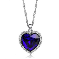 Titanic Heart Necklace  I have this but it doesn't have real stones in it, of course.