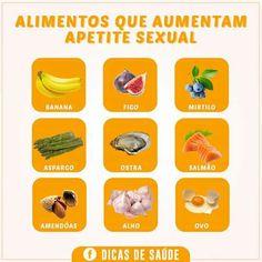 Alimentos que aumentam apetite sexualidade!