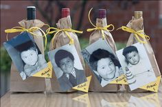 "This is a seriously cute activity for a wine themed bridal shower. Provide 4 white wines and 4 red wines for tasting, each disguised in a brown bag and labeled with a photo of the bride or groom as children. As guests taste the wines and need a second sip, they as for the ""Michael at age 3,"" for example. Super cute, and more details at http://tammygolsonevents.blogspot.com/2009/12/best-bridal-shower-of-2009.html"