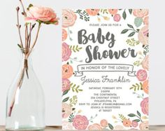 Bunny Baby Shower Invite  Baby Shower by CreativeUnionDesign
