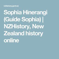 Sophia Hinerangi (Guide Sophia) | NZHistory, New Zealand history online