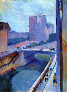A Glimpse of Notre-Dame in the Late Afternoon via Henri Matisse Size: 72x54 cm