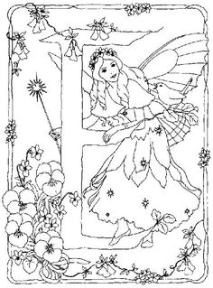 Fairies Alphabet Coloring Pictures For Kids5