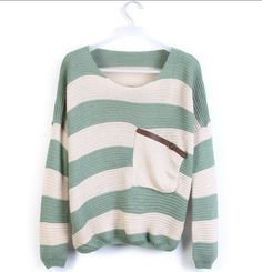 Green Striped Bat Long Sleeve Sweater- this site is called luulla, i finally found it! i have been looking for the website to purchase this sweater forever! YAY