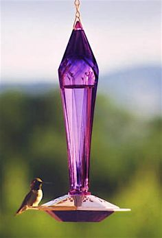 Glass Hummingbird Feeders