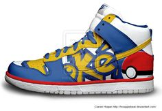 Pokemon Nike Dunks by Houggiebear on DeviantArt Custom Sneakers, Custom Shoes, Baskets, Nike Shoes, Sneakers Nike, Nike Kicks, Sneaker Art, Hand Painted Shoes, Basketball Shoes