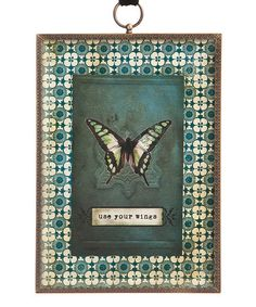 Take a look at this 'Use Your Wings' Glass Plaque by DEMDACO on #zulily today!
