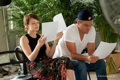 Carey Mulligan and Leonardo DiCaprio, during rehearsal for Baz Luhrmann's The Great Gatsby.