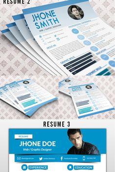 Jhon Deo - #Bundle 3 in 1 #ResumeTheme. #Resume