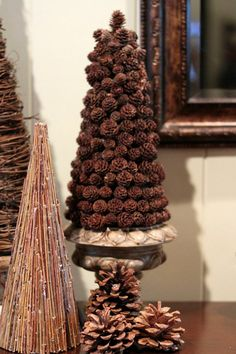 pinecone tree ,,for rustic decorating