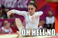 Disaster: This meme showcases the moment McKayla Maroney saw her shot at a gold medal run away from her