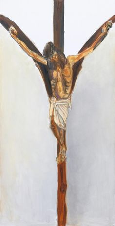 'Tree of Life' - 2011 - by Marlene Dumas (South African, b. 1953) - Oil on canvas - 200x100cm.