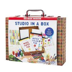 Kid Made Modern Studio in A Box Set - Painting Sketching and Coloring Arts and Crafts Kit -- (paid link) More info could be found at the image url. Arts And Crafts Kits, Craft Kits, Craft Supplies, Color Pad, One Color, Diy Crafts Materials, Kits For Kids, Creative Kids, 6 Years