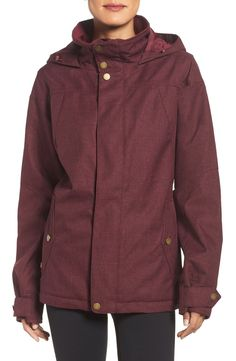 From the slopes to the streets, this breathable waterproof Burton jacket is cute and cozy.