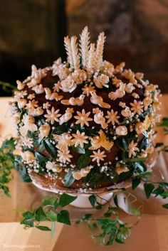 Korovai Ukrainian wedding cake. The prettiest cakes I have ever seen.