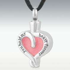 My Heart Forever Stainless Steel Cremation Jewelry - Engravable