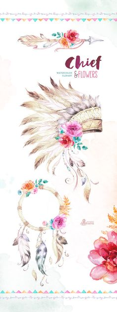 New Painting Indian Headdress War Bonnet Ideas Watercolor Logo, Watercolor Flowers, Flower Logo, Flower Art, Art Flowers, War Bonnet, Painting Quotes, Diy Painting, Native American Art