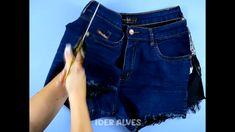 Sewing Clothes, Diy Clothes, Model Kebaya Modern, Denim Bag Patterns, Jeans Refashion, Curvy Girl Outfits, Denim Ideas, Denim Crafts, Embellished Jeans