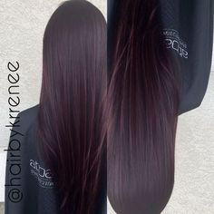 Image result for dark brunette hair with subtle purple tint